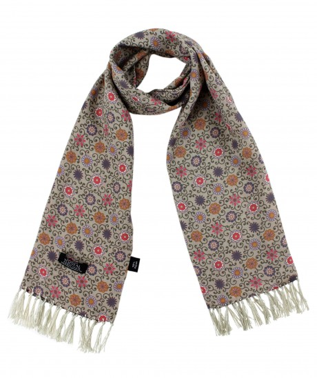 Tootal Stone Daisy Chain Print Rayon Scarf