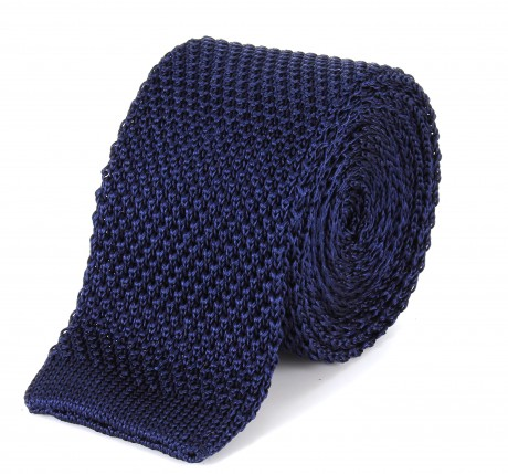 Tootal Navy Knitted Silk Plain Tie