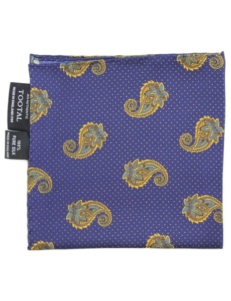 Tootal Made In England Spot & Paisley Pocket Square