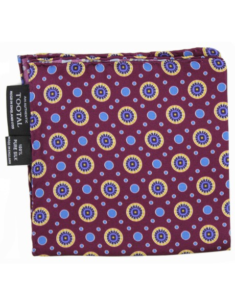 Tootal Made In England Circles Print Pocket Square