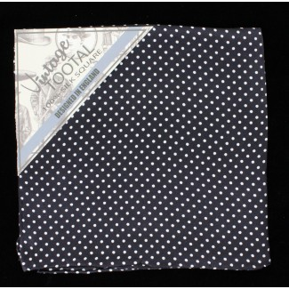 Tootal Black & White Polka Dot Silk Pocket Square