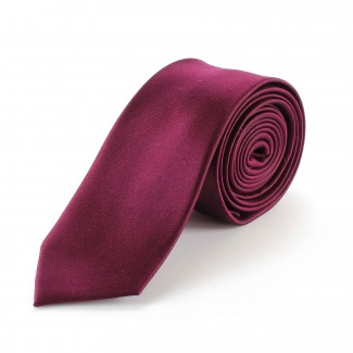 Tootal Plain Burgundy Silk Skinny Tie