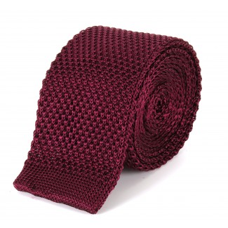 Tootal Burgundy Knitted Silk Plain Tie