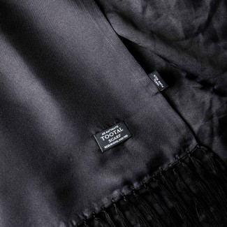 Tootal Vintage Black Plain Scarf