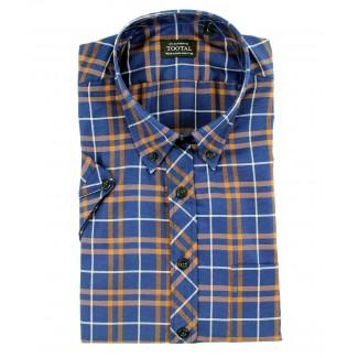 Tootal Blue Check Short Sleeve Shirt