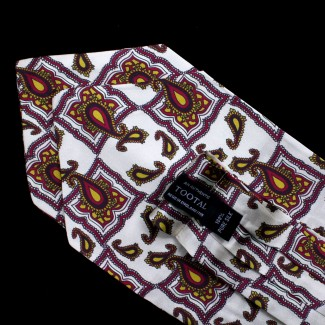 Tootal Cream Tile Print Silk Cravat